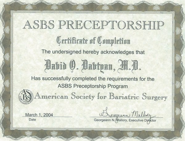 American Society for Bariatric Surgeons