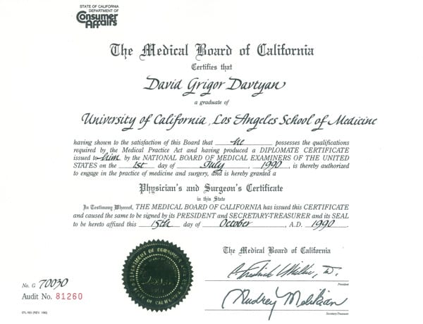 The Medical Board of California