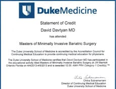 Duke Medicine - Minimally Invasive Bariatric Surgery